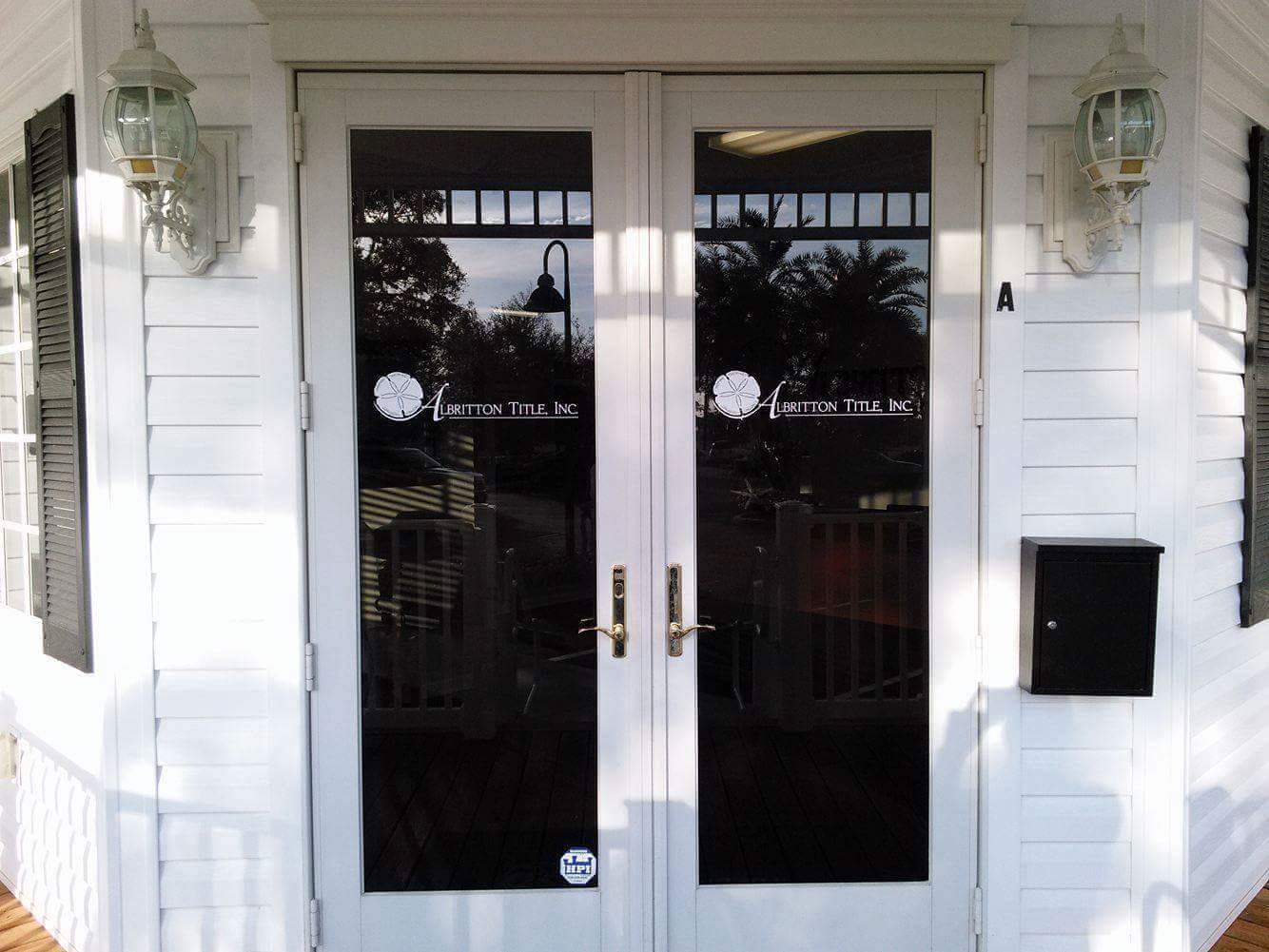 Real Estate Closings and Title Insurance| Entryway of Albritton Title, Inc in Palm Harbor